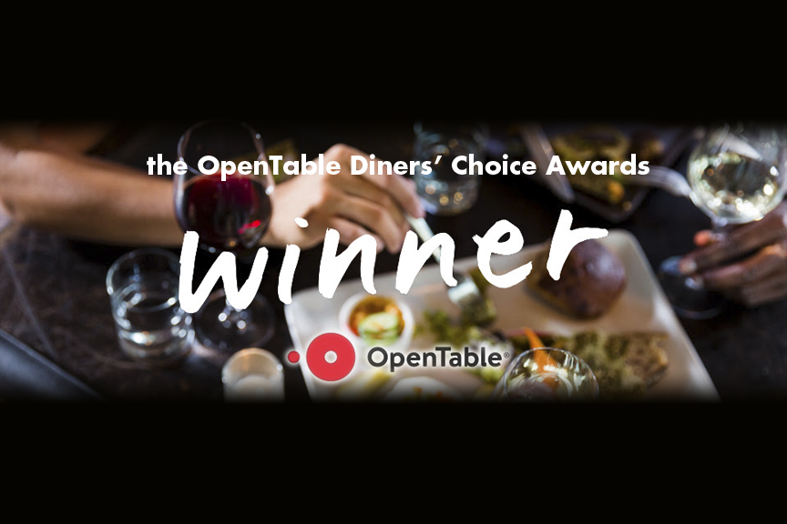 OpenTable Diners' Choice Awards Winner